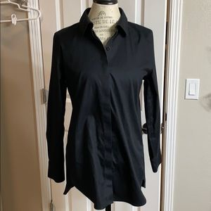 Chico's non-iron dress shirt in black
